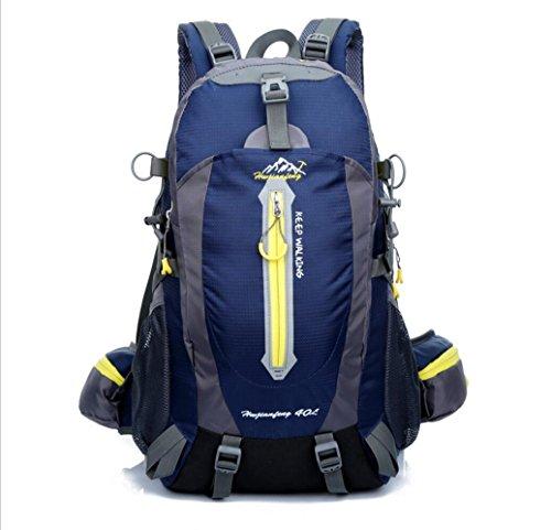 LQABW Los Hombres De Hombro Montañismo Montar Viaje Y Mujeres Caminando A Prueba De Agua Reducido Mochila 40L,Blue DarkBlue