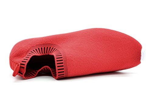 DREAM PAIRS Neue Mode Damen Lady Easy Walk Slip-On Leichte Freizeit Comfort Loafer Schuhe Turnschuhe 160486-rot Schwarz