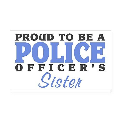 CafePress - Officer's Sister Rectangle Car Magnet - Rectangle Car Magnet, Magnetic Bumper Sticker