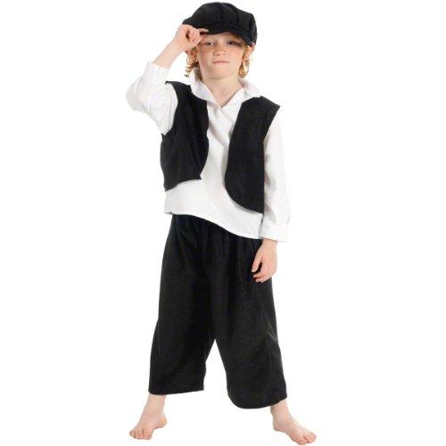 Edwardian School Boy Costumes - Charlie Crow Bert The Chimney Sweep
