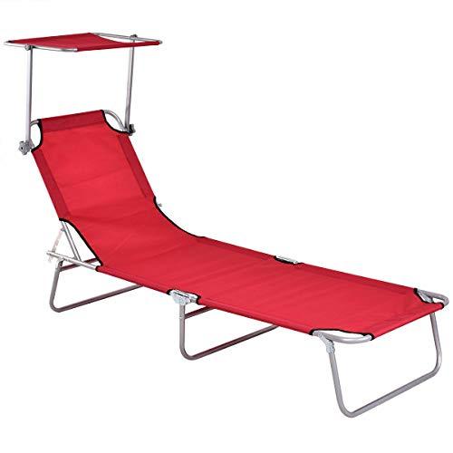 Stark Item Sun Lounge Bed Chair Beach Recliner Garden Patio Pool Seat Back Relaxer Foldable (Near Me Beach Umbrella Store)