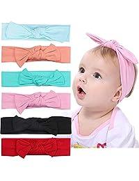 Diadema de Lazos para Bebé, Cintas para Niñas Cabello - Cabeza Bandas de Mariposa, Headwraps Lazos para el Pelo para Recién Nacidos, Niños Pequeños y Niños