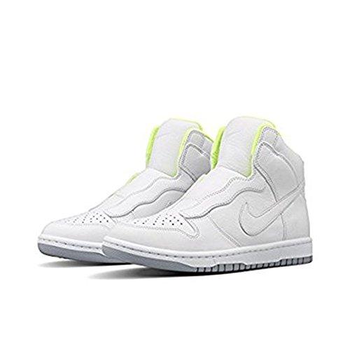Nike Womens NikeLab x Sacai Dunk Lux SP White Wolf Grey Volt 5