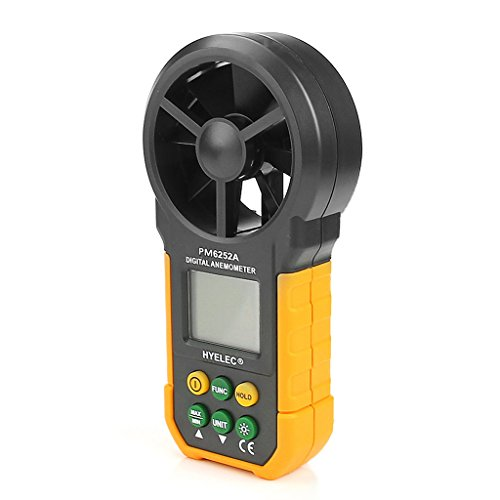 YUNAWU 1set High Accuracy Digital Air Speed Anemometer/Air Volume/Air Flow Test Meter for HYELEC MS6252A by YUNAWU (Image #3)