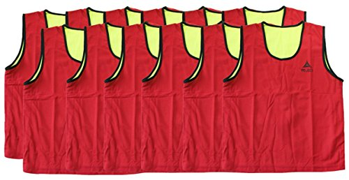 Select Reversible Training Vest (Pack 12), Youth, Red/Yellow ()