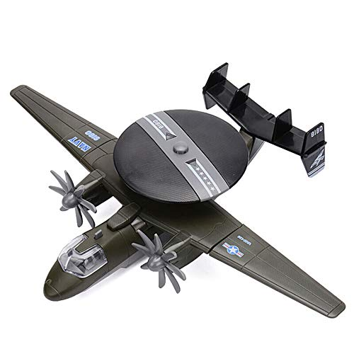 Navy Model Airplane - CORPER TOYS Diecast Plane Early Warning Airplane Model Navy Hawkeye Pull-Back Attack Aircraft Toys for Kids Boys (Green)