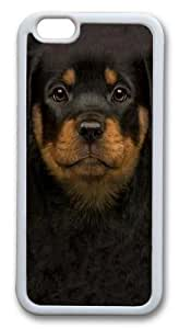For SamSung Galaxy S6 Case Cover -Kids Rottweiler Puppy Hard shell Silicone pc For SamSung Galaxy S6 Case Cover White