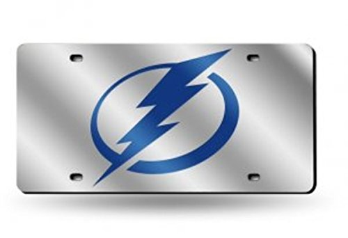 Rico Industries Tampa Bay Lightning Silver Laser License Plate
