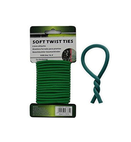 16-Ft Rubber-Coated Flex Plant Wire - Soft Twist Ties Support Plant Vines, Stems & Stalks - Container Support