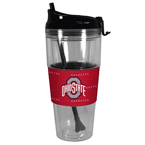 NCAA Ohio State Buckeyes Premium Tonal Straw Tumbler, (Ohio State Buckeyes Sugar)