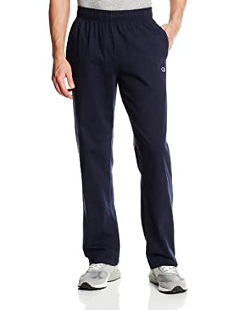 Champion Men's Open Bottom Light Weight Jersey Sweatpant, Navy, Small