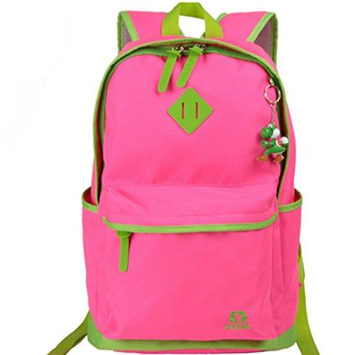 FOLLOWUS - Bolso mochila  para mujer Varios colores multicolor, caqui (Varios colores) - G72194 rosa (b)