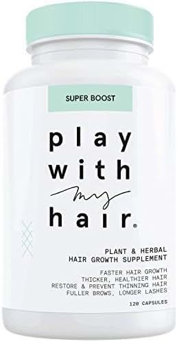Women's Premium Hair Growth Vitamin - Faster Hair Growth. 2000% Biotin. Longer, Thicker, Healthier Hair. Reverse Thinning Hair. Safe & All Natural. Longer Lashes. DHT Blocker to Stop Hair Loss.
