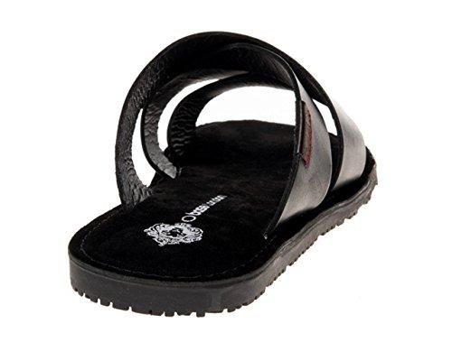 41b2224fdaf47e Base London Men s Fashion Sandals Black Black 6 UK  Amazon.co.uk  Shoes    Bags