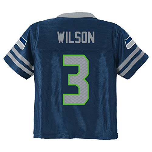 - Outerstuff Russell Wilson Seattle Seahawks #3 Navy Blue Youth Home Player Jersey (Large 14/16)