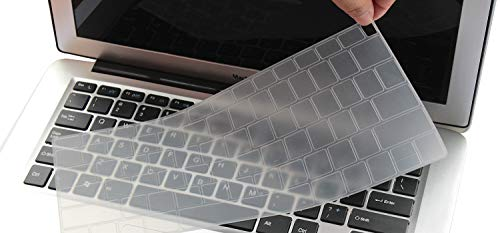 Cld Air (Transparent Silicone Keyboard Cover Skin Compatible for 2018 Newest Release MacBook Air 13 inch with Touch ID Model A1932 (It Doesn't Fit Old MacBook Air 13