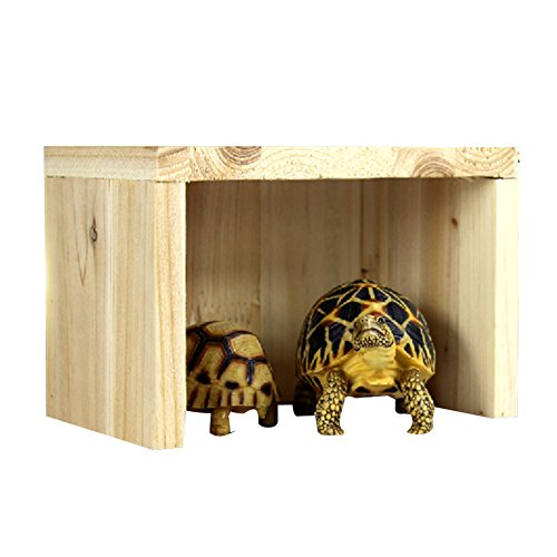 Wildgirl Tortoise Lizard Reptile Hideout Hiding Place Cedarwood Hut by Wildgirl