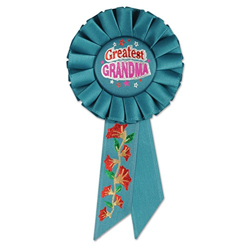 Beistle RS012 Greatest Grandma Rosette, 31/4 by 61/2-Inch (Great Ribbon)
