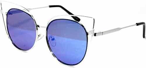 caf72df670 CB19-6 Sexy Super Oversized Cateye Women s Sunglasses Metal Frame