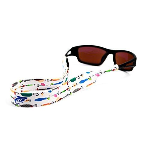 Pilotfish Sunglasses Strap - Floating Neoprene Eyewear Retainer - Sunglass Holder Strap - Custom Design - Good Are Ray Bans