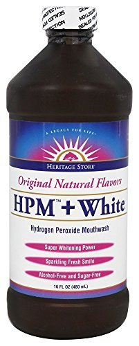 Heritage Hydrogen Peroxide Mouthwash + White Heritage Store, 16 Ounce