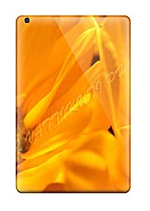 Tpu Fashionable Design Orange Daisy Zoom Nature Flower Rugged Case Cover For Ipad Mini/mini 2 New