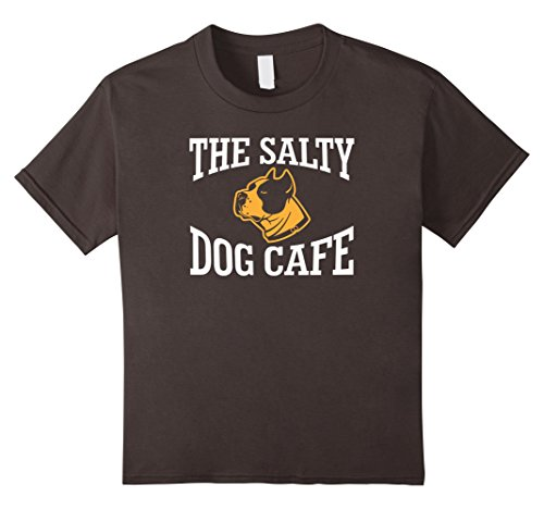 Kids The Salty Dog Cafe Funny Gift Animal Dog T-shirt 12 Asphalt (Salty T-shirts Dog)