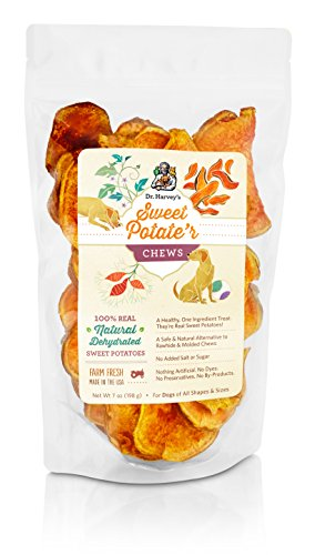 Dr. Harvey's Sweet Potate'r Chews - Sweet Potato Treat for Dogs, 7 oz. Bag