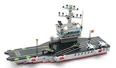 Christmas Gift,Enlighten Military Aircraft Carrier Model Building Blocks Sets 508pcs Educational DIY Bricks Toys Children