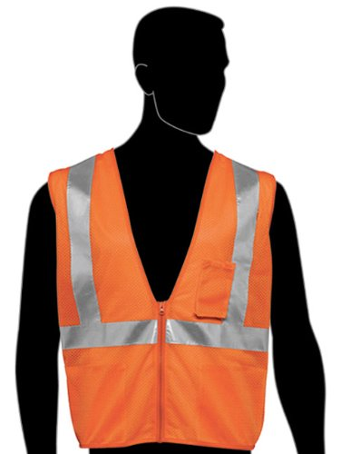 (Liberty HiVizGard Polyester All Mesh Fabric Class 2 Safety Vest with 2