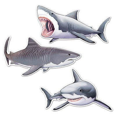 Beistle Shark Cutouts, 22.5