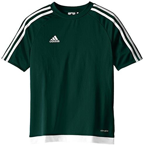 adidas Kids Soccer Estro Jersey, Collegiate Green/White, X-Large
