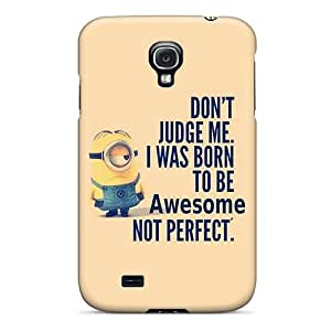 High Quality Phone Case For Samsung Galaxy S4 With Customized Trendy Minion Born To Be Awesome Pictures ErleneRobinson