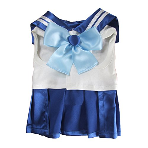 [Handmade Halloween Dog Cat Sailor Moon Suit Costume Customization(Blue, XSmall)] (Sailor Moon Cat Costume)