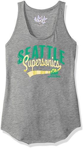 Touch by Alyssa Milano NBA Seattle Supersonics Rookie Tank, Small, Heather Grey