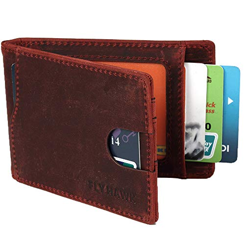 Box Top Wallet - Money Clip Wallet RFID Blocking Mini Slim Wallets Bifold for Men with Gift Box