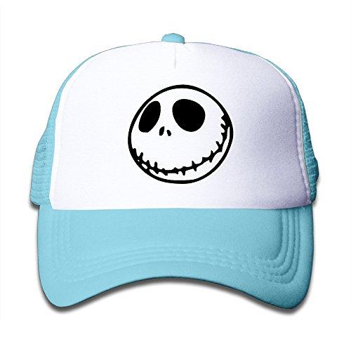 Unisex Nightmare Before Christmas Smiley Face Emoji Kids Mesh Hat Trucker Hat