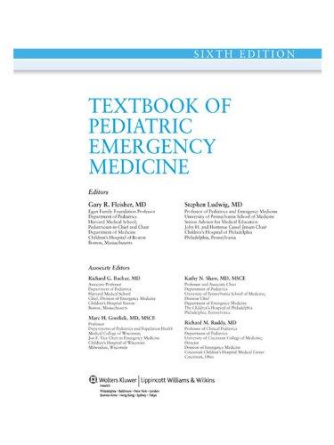 Textbook of Pediatric Emergency Medicine (Textbook of Pediatric Medicine (Fleisher)) Pdf