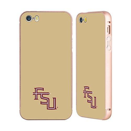 te University FSU Seminoles Gold Aluminum Bumper Slider Case for Apple iPhone 5 iPhone 5s iPhone SE (Gold Seminole Head)