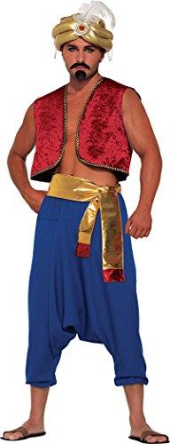 [Men Fancy Dress Costume Aladdin Bollywood Waistcoat Genie Vest Size 42