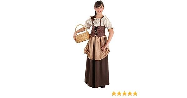 DISBACANAL Traje Medieval hortelana para niña - -, 8 años: Amazon ...