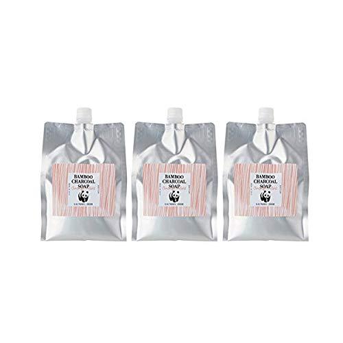 竹炭の石けん2000ml(オレンジミント)3個セット 食器洗い+洗濯用無添加石けん B0793JT796
