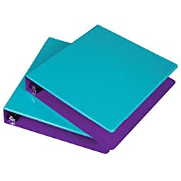 Samsill 1.5-Inch 2-Tone View Binder, Turquoise/Purple, Pack of 2 (U58948)