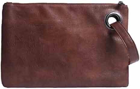 TUSANG Women Crocodile Leather Messenger Crossbody Clutch Shoulder Handbag With Strap Vintage Style Handbag Clutch