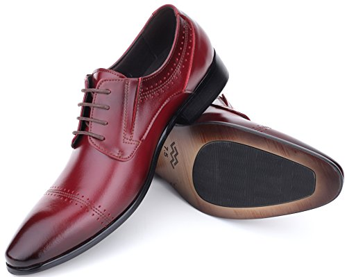Loafers Bag Leather For Monk Cap Mio Dress Mens Shoes Cabernet in nbsp;Strap Shoe Wingtip Marino Men Shoes a Toe Oxford PnaazqYwW