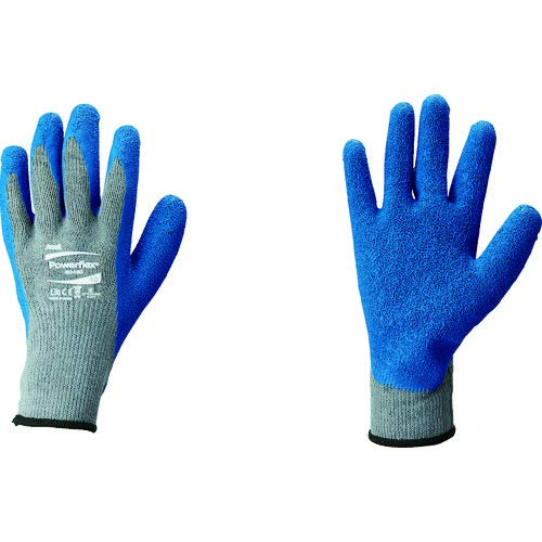 Ansell Gloves Cotton (Ansell 801009 PowerFlex 80-100 Knit Liner Gloves with Latex Coating, 10