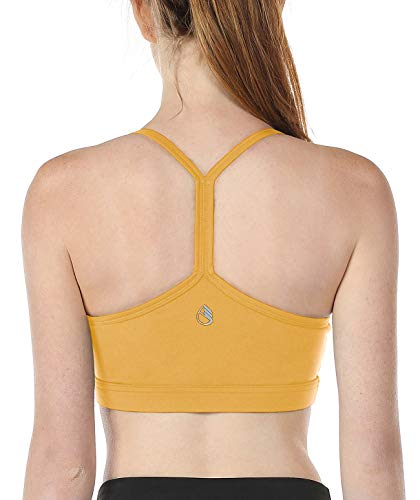icyzone Workout Sports Bras for Women - Running Fitness Exercise Yoga Bra, Athletic Activewear Tops (M, Banana Cream)
