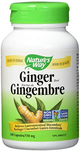 Natures Way Premium Herbal Ginger Root 550 mg, 100 Count (Packaging May Vary)