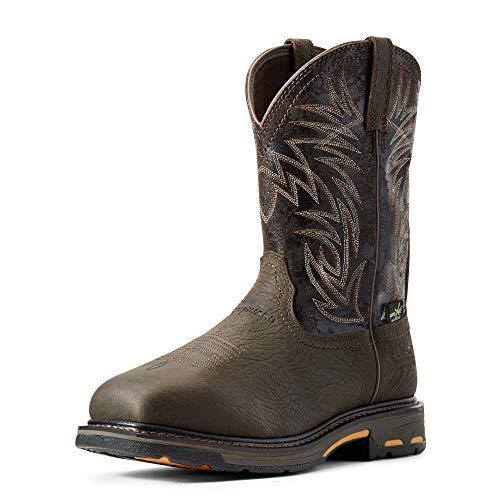 ARIAT Men's Workhog Waterproof Metguard Composite Toe Work Boot Bruin Brown Size 13 Ee/Wide Us