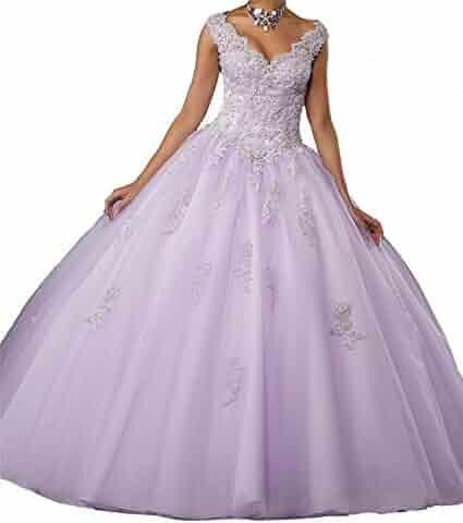 cd8def9e15 M RAC Girls Gorgeous Lace Appliques Ballgown Womens Crystal Quinceanera  Dresses